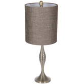 Gold Hammered Metal Lamp