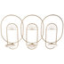 Gold Art Deco Metal Wall Sconce