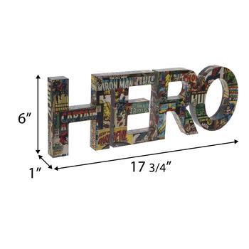 Hero Marvel Comic Book Wood Wall Decor