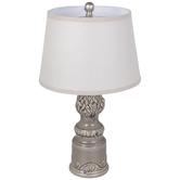 Gray Ornate Lamp