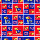 Kansas Block Collegiate Cotton Fabric