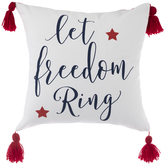 Let Freedom Ring & Gingham Pillow Cover