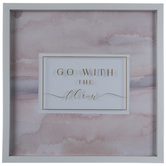 Go With The Flow Framed Wood Wall Decor