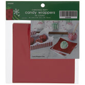 Red Foil & White Candy Wrappers