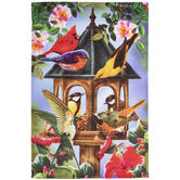 Birds & Birdhouse Garden Flag