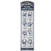 Baseball Pitching Guide Metal Sign