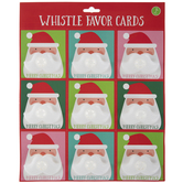 Santa Moustache Whistle Favor Cards
