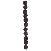 Dark Brown Tree Seed Bead Strand