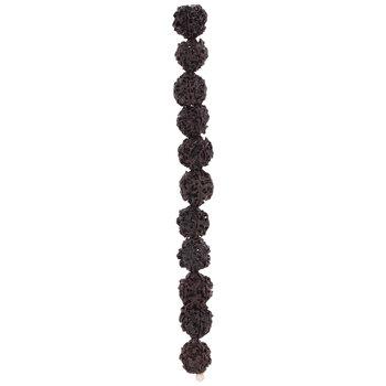Dark Brown Tree Seed Bead Strand