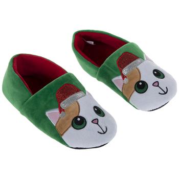Santa Hat Cat Slippers - Large/Extra Large