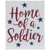 Home Of A Solider Wood Decor
