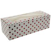 White & Red Foil Polka Dot Treat Boxes