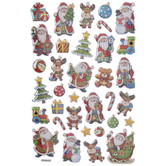 Santa & Friends Puffy Stickers