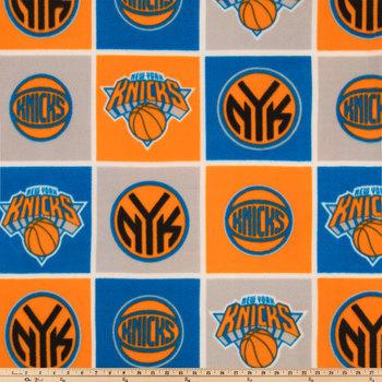 NBA New York Knicks Block Fleece Fabric