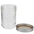 Wide Mouth Glass Mason Jar - 16 Ounce