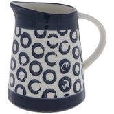 White & Blue Circle Pattern Creamer