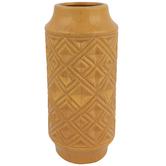Mustard Diamond Vase