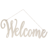 Welcome Cutout Wood Wall Decor