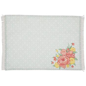 Tile Floral Fringed Placemat