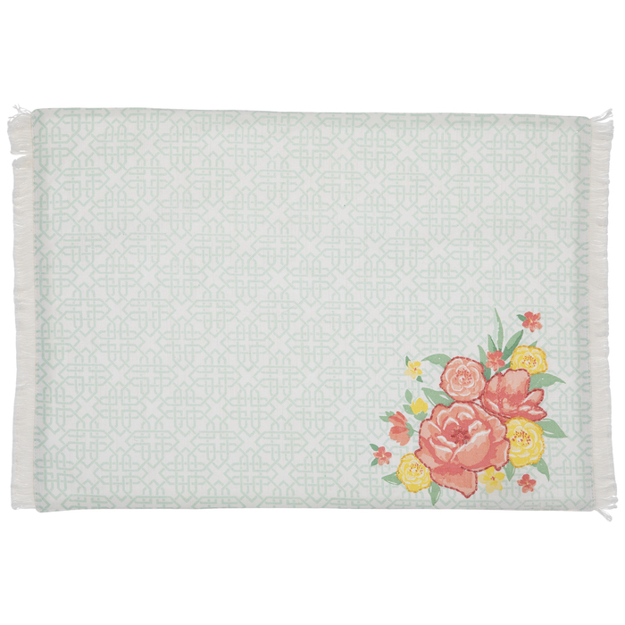 Tile Floral Fringed Placemat Hobby Lobby 5475330