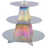 Iridescent Print Three Tier Cupcake Stand