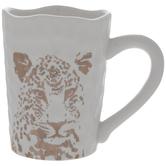 White & Gold Leopard Mug