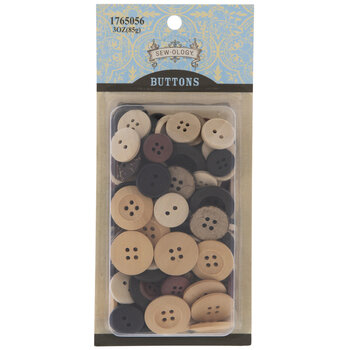 Assorted Wood Round Buttons