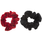 Red & Black Velvet Scrunchies