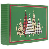 Patterned Trees Christmas Cards