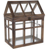 Distressed Wood House Terrarium