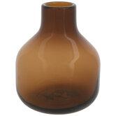 Dark Brown Glass Vase