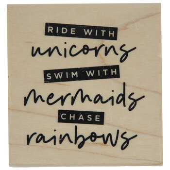 Ride With Unicorns Rubber Stamp