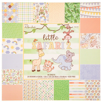 "Little Safari 2 Paper Pack - 12"" x 12"""