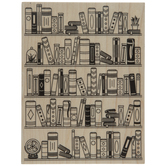 Bookcase Background Stamp