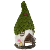Flocked Fairy House