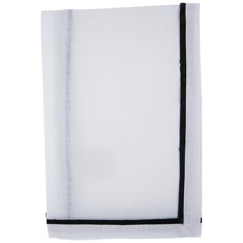 Black Trimmed White Cloth Napkins