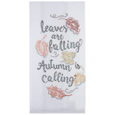 Autumn Is Calling Stitched Kitchen Towel