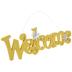 Yellow Glitter Welcome Wood Wall Decor