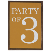 Party Of 3 Wood Wall Decor