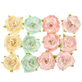 Snow Rose Prima Flower Embellishments