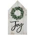 Joy Wreath Wood Decor