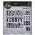 Sizzix Thinlits Alphanumeric Shadow Numbers