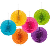 Bright Printed Paper Fans