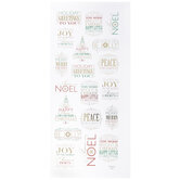Gold, Green & Red Christmas Foil Stickers