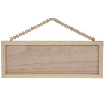 Beaded Rectangle Wood Wall Decor