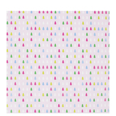 Pink & Multi-Color Trees Gift Wrap