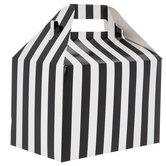 Black & White Striped Gable Box