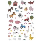 Farm Animals Puffy Stickers