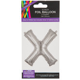 Silver Foil Letter Balloon - X