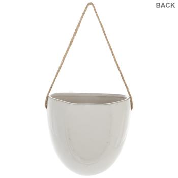 White Egg Wall Flower Pot